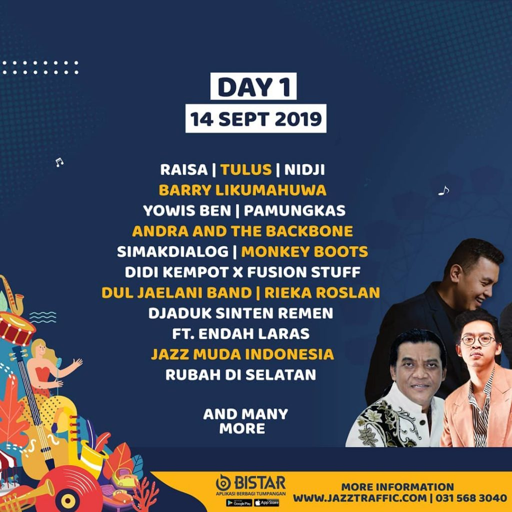 jadwal artis jazz traffic 2019