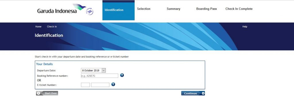 Garuda Indonesia Online Check In