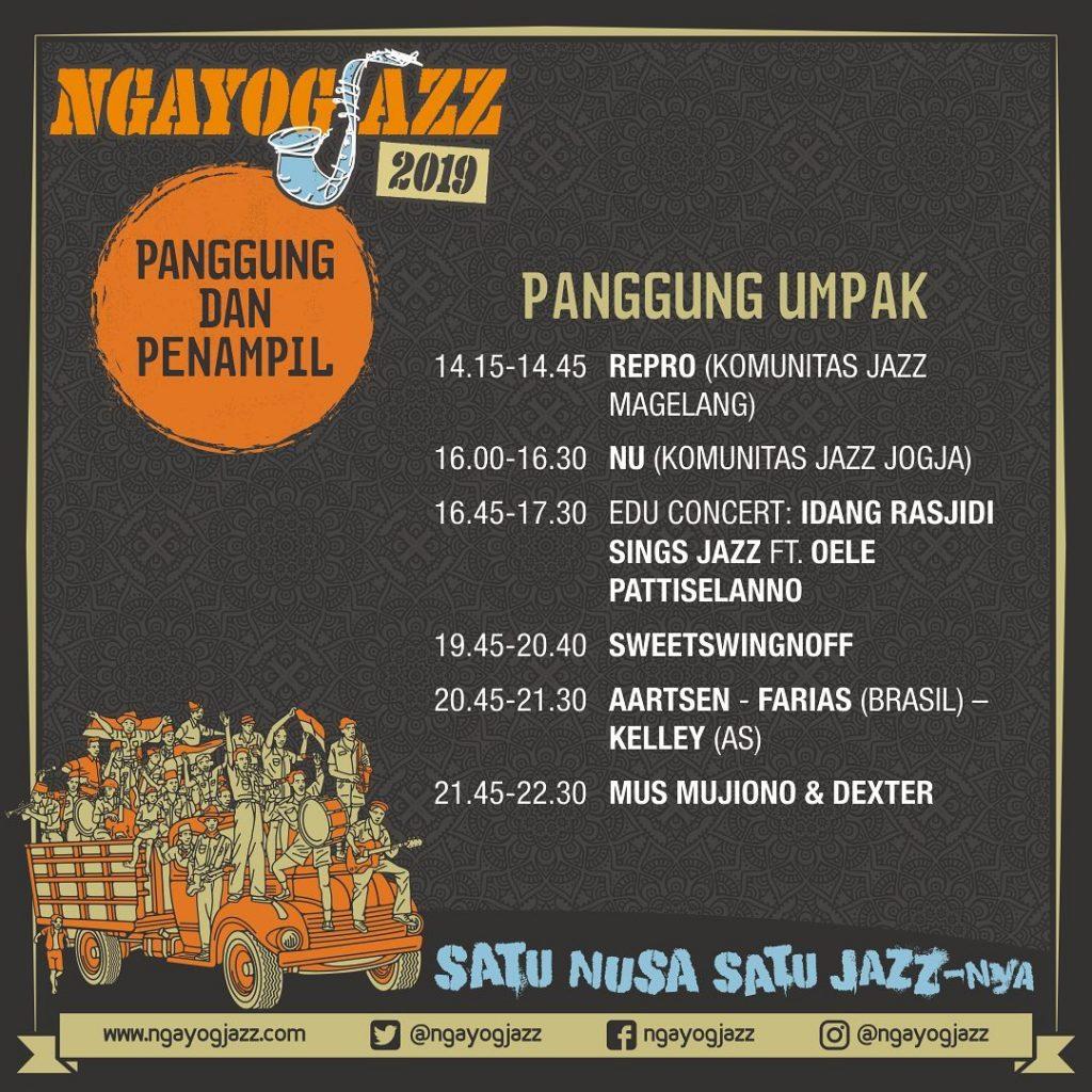 Jadwal lengkap Ngayogjazz di Panggung Umpak, Image By : @ngayogjazz